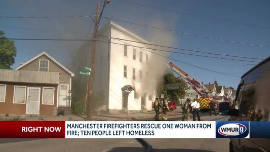 Manchester resident rescued from burning building