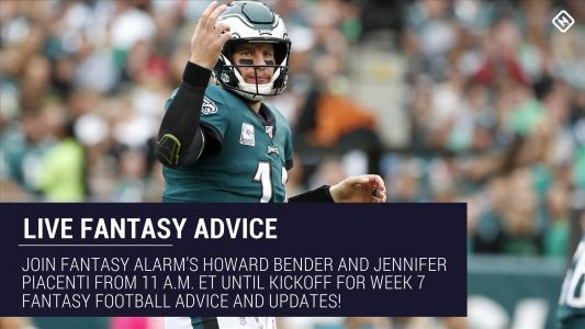 Live Week 7 Fantasy Football Advice: Injury updates, start 'em sit 'em, NFL DFS tips, more