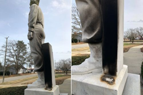 Vandals tried to set the wrong General Lee monument on fire