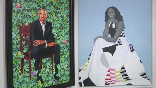 Obama portraits to be unveiled at Art Institute of Chicago Friday