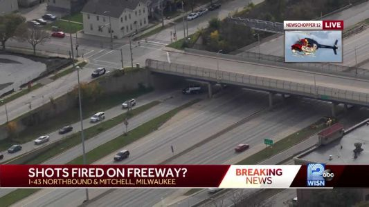 Report of shots fired on I-43 south of downtown
