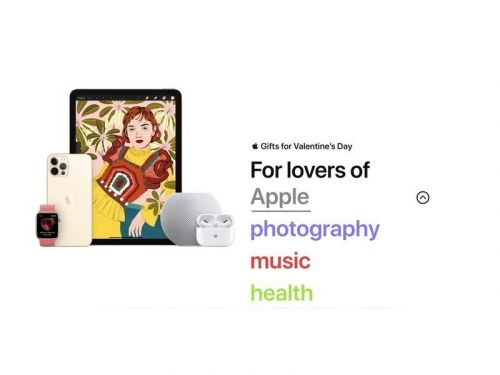 Apple launches a gift guide for Valentine's Day