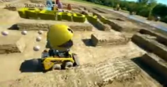 Want to play Pac-Man in the real world? You need a Caterpillar vehicle for this wild Illinois maze