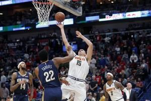 Jokic, Nuggets, control boards in 113-106 win over Pelicans
