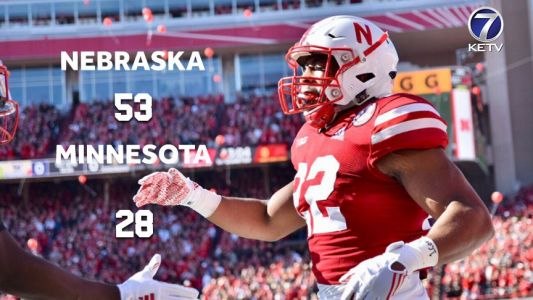 Nebraska downs Minnesota to pick up first win under coach Scott Frost