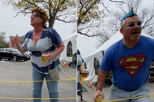 NJ school vice principal tosses beer at diners for filming wife's transphobic rant