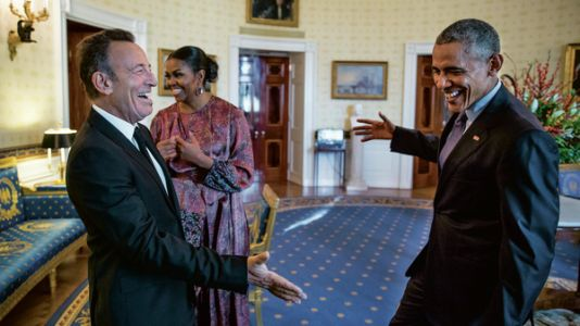 In a new book, Barack Obama and Bruce Springsteen envision a more unified America