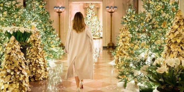 Glittering photos show how the White House has celebrated Christmas through the years