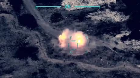 Watch DRONE FOOTAGE claiming to show Azeri strikes against air defense systems of Armenia-backed forces