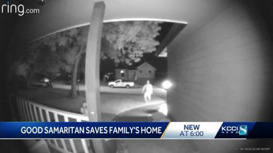 'What a hero': Passerby uses Ring security camera to let family know their home was on fire