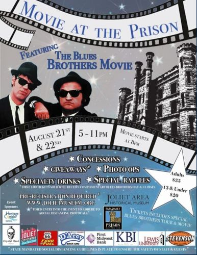 See the 'Blues Brothers' on the big screen at Old Joliet Prison this weekend