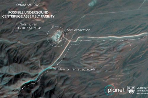 Satellite photos show construction at Iranian nuclear site