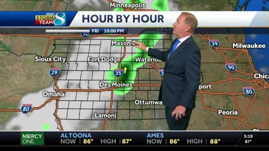 Chances for showers late Friday