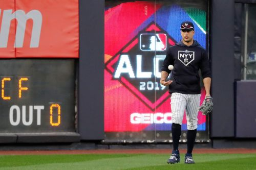 Giancarlo Stanton is back in the Yankees lineup for Game 5