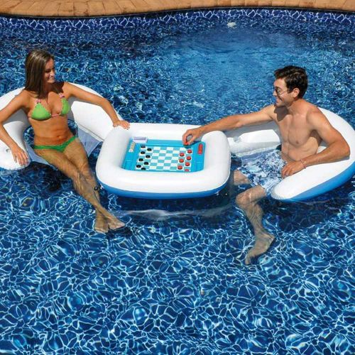 Float away the day on an inflatable game table