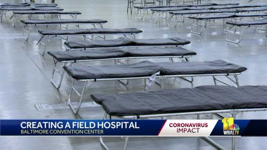 National Guard, FEMA set up field hospital at Baltimore Convention Center for coronavirus response