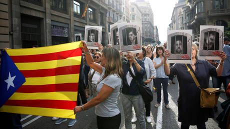Protests erupt in Barcelona as people vent off anger at harsh sentences to Catalan referendum organizers