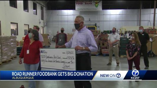 Roadrunner Food Bank gets big donation to help put food on families' tables
