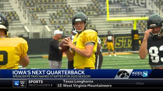 Spencer Petras named Iowa's starting quarterback for 2020 season