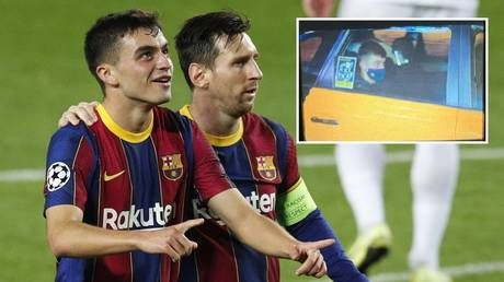 'He's a role model': Barcelona's Pedri, 17, praised for 'humility' as he heads home in taxi after making Champions League history