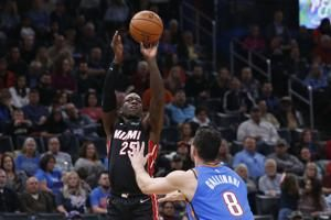 Nunn's 22 points lead Heat past Thunder, 115-108
