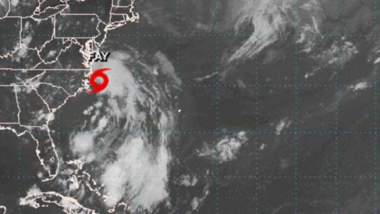 Tropical Storm Fay forms off coast of North Carolina