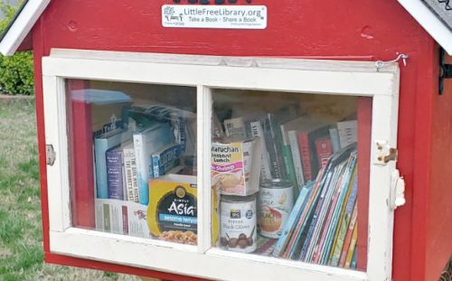 Family turns Little Free Library into food pantry during coronavirus outbreak