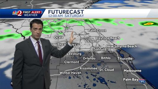Plenty of clouds, cooler and a few showers around Saturday