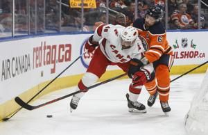 Aho scores twice, Hurricanes double up Oilers 6-3