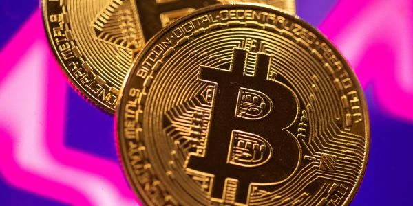 Bitcoin edges up in volatile trade after tumbling from record highs scored after Coinbase listing