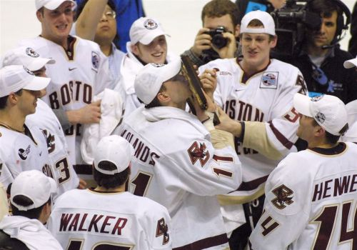 Penguins coaches J.D. Forrest and Ty Hennes reflect on championship run with Boston College