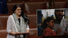 Rashida Tlaib On House Floor Points To Palestinians 'Killed As The World Watches'