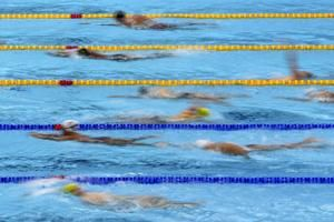 Swimming warmup at Olympics can be a chaotic 'nightmare'