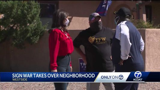 'It could get bigger and better': Albuquerque neighborhood in a friendly political sign battle