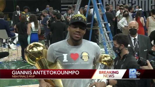 Giannis speaks exclusively with WISN's Stephen Watson