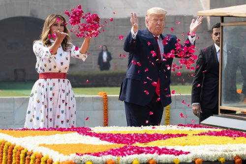 Trump honors Gandhi, expected to talk trade during second day in India