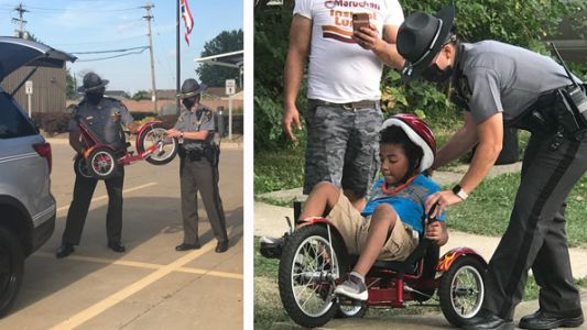 Massachusetts deputy builds specialized tricycle for Ohio 6-year-old with special needs