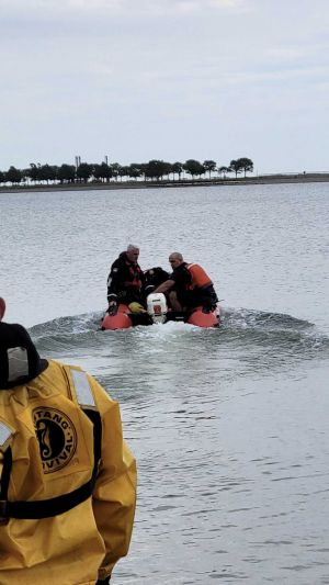 Teams searching for swimmer missing off Castle Island
