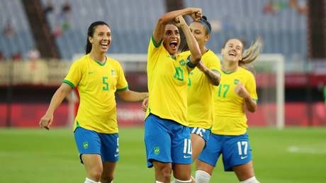 'Legend': Brazilian queen Marta scores for FIFTH Olympics in a row as she opens account against China at Tokyo Games