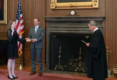 Barrett sworn in as newest Supreme Court justice as issues important to President Trump, GOP await