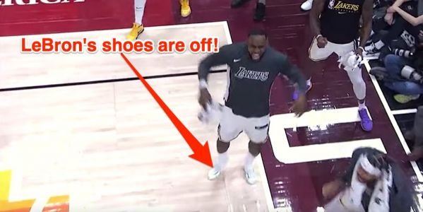 LeBron James kicked off his shoes during a blowout win, then responded to critics who said the move was disrespectful