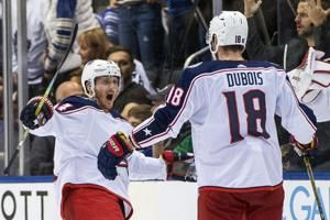 Nyquist's penalty shot in OT lifts Blue Jackets past Leafs