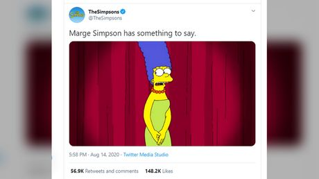 'Cancel yourself': Twitter battle erupts after Marge Simpson feels 'p***d off' at being compared to Kamala Harris