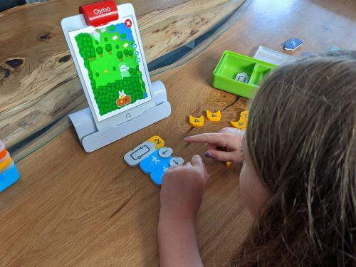 Osmo's learning kits are a fun way to introduce STEAM concepts to kids with engaging math and word games