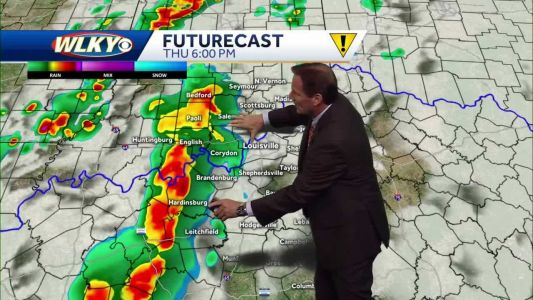 Scattered showers and storms possible this evening