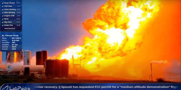 SpaceX's latest Starship rocket prototype has exploded by fiery explosion during an engine test