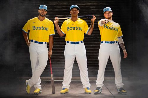 Red Sox unveil first uniforms without the color red