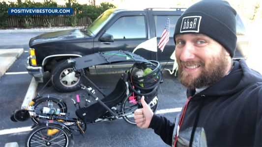 Man riding across country to raise money for children's hospital dies in crash