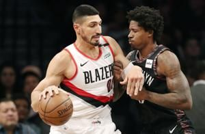Center duo of Nurkic, Kanter leads Blazers over Nets, 113-99