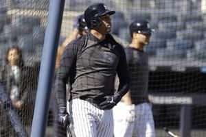 Hicks back in Yanks' lineup for Game 3 of ALCS; Stanton out